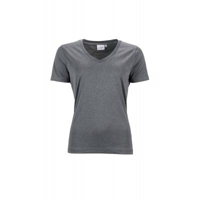 T-Shirt Ladies' Active-V colore dark-melange taglia XS