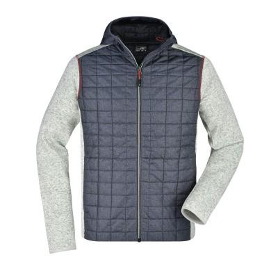 Giacche Men's Knitted Hybrid Jacket colore light-melange/anthracite-melan taglia S