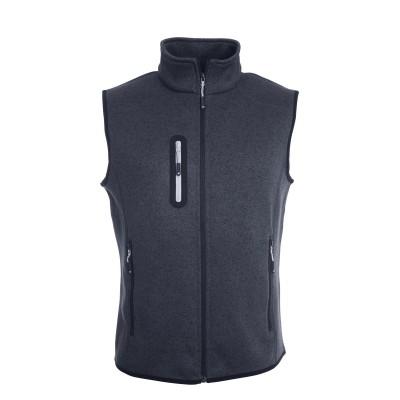 Giacche Men's Knitted Fleece Vest colore dark-grey-melange/silver taglia S