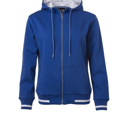 Felpe Ladies' Club Sweat Jacket colore royal/white taglia S