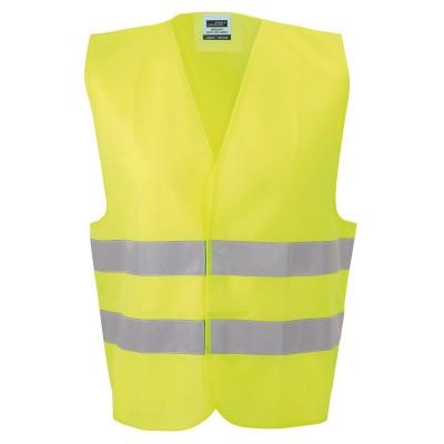 Giacche Safety Vest Adults colore fluorescent-yellow taglia UNICA