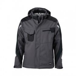 Giacche Craftsmen Softshell Jacket colore carbon/black taglia L