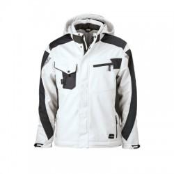 Giacche Craftsmen Softshell Jacket colore white/carbon taglia L