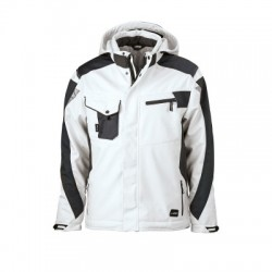 Giacche Craftsmen Softshell Jacket colore white/carbon taglia XL