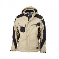 Giacche Craftsmen Softshell Jacket colore stone/black taglia XL