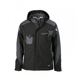 Giacche Craftsmen Softshell Jacket colore black/carbon taglia 3XL