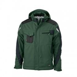 Giacche Craftsmen Softshell Jacket colore dark-green/black taglia S