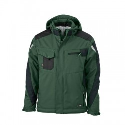 Giacche Craftsmen Softshell Jacket colore dark-green/black taglia 3XL