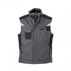 Giacche Craftsmen Softshell Vest colore carbon/black taglia 3XL