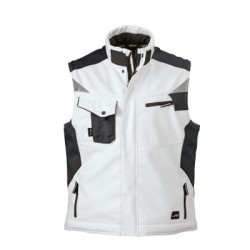 Giacche Craftsmen Softshell Vest colore white/carbon taglia M