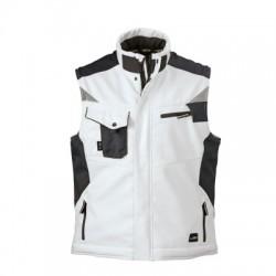 Giacche Craftsmen Softshell Vest colore white/carbon taglia L