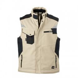 Giacche Craftsmen Softshell Vest colore stone/black taglia 3XL