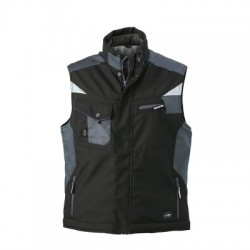 Giacche Craftsmen Softshell Vest colore black/carbon taglia S