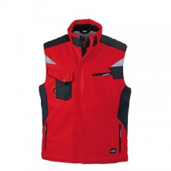 Giacche Craftsmen Softshell Vest colore red/black taglia XS