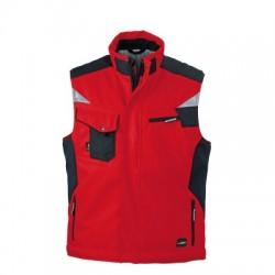 Giacche Craftsmen Softshell Vest colore red/black taglia 3XL
