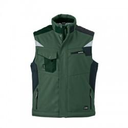 Giacche Craftsmen Softshell Vest colore dark-green/black taglia XS