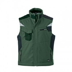 Giacche Craftsmen Softshell Vest colore dark-green/black taglia XXL