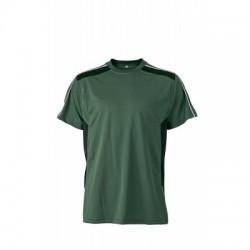 T-Shirt Craftsmen T-Shirt colore dark-green/black taglia XS