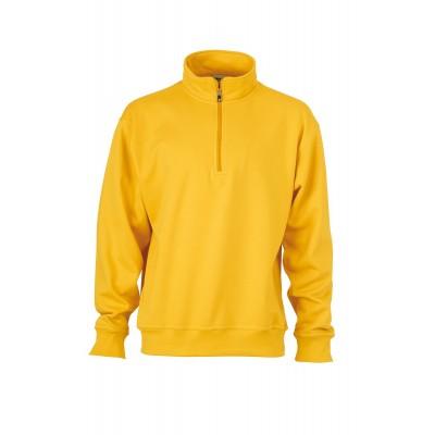 Felpe Workwear Half Zip Sweat colore gold-yellow taglia XS