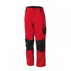 Pantaloni Workwear Pants colore red/black taglia 50