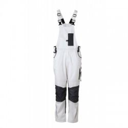 Pantaloni Workwear Pantsss With Bib colore white/carbon taglia 44