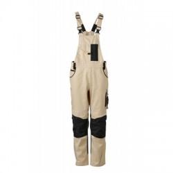 Pantaloni Workwear Pantsss With Bib colore stone/black taglia 56