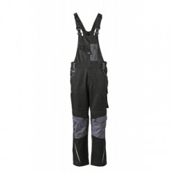 Pantaloni Workwear Pantsss With Bib colore black/carbon taglia 54