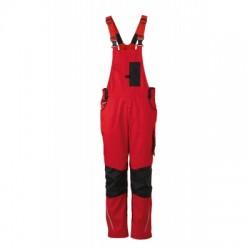 Pantaloni Workwear Pantsss With Bib colore red/black taglia 54
