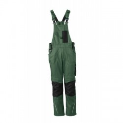 Pantaloni Workwear Pantsss With Bib colore dark-green/black taglia 52