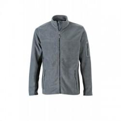 Pile Men's Workwear Fleece Jacket colore carbon/black taglia S