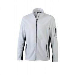 Pile Men's Workwear Fleece Jacket colore white/carbon taglia L