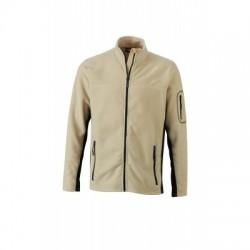 Pile Men's Workwear Fleece Jacket colore stone/black taglia S