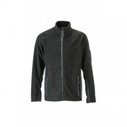 Pile Men's Workwear Fleece Jacket colore black/carbon taglia S