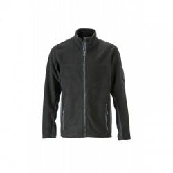 Pile Men's Workwear Fleece Jacket colore black/carbon taglia M