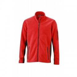 Pile Men's Workwear Fleece Jacket colore red/black taglia XS