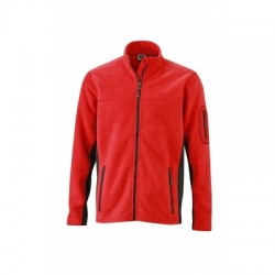 Pile Men's Workwear Fleece Jacket colore red/black taglia M