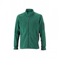 Pile Men's Workwear Fleece Jacket colore dark-green/black taglia XS