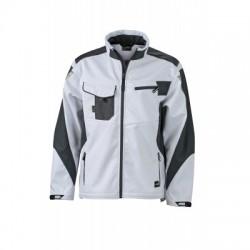 Giacche Workwear Softshell Jacket colore white/carbon taglia S