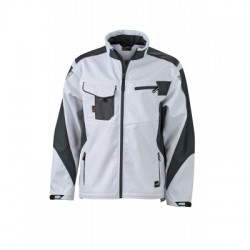 Giacche Workwear Softshell Jacket colore white/carbon taglia L