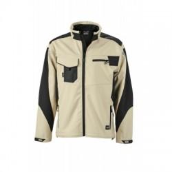 Giacche Workwear Softshell Jacket colore stone/black taglia 3XL