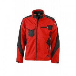 Giacche Workwear Softshell Jacket colore red/black taglia XS