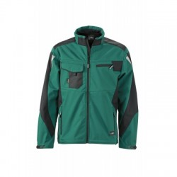 Giacche Workwear Softshell Jacket colore dark-green/black taglia XXL