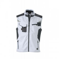 Giacche Workwear Softshell Vest colore white/carbon taglia XXL