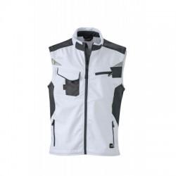 Giacche Workwear Softshell Vest colore white/carbon taglia 3XL