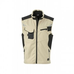 Giacche Workwear Softshell Vest colore stone/black taglia XXL