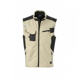 Giacche Workwear Softshell Vest colore stone/black taglia 3XL
