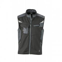 Giacche Workwear Softshell Vest colore black/carbon taglia S