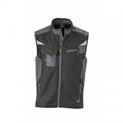 Giacche Workwear Softshell Vest colore black/carbon taglia 3XL