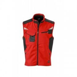 Giacche Workwear Softshell Vest colore red/black taglia XS