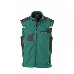 Giacche Workwear Softshell Vest colore dark-green/black taglia L